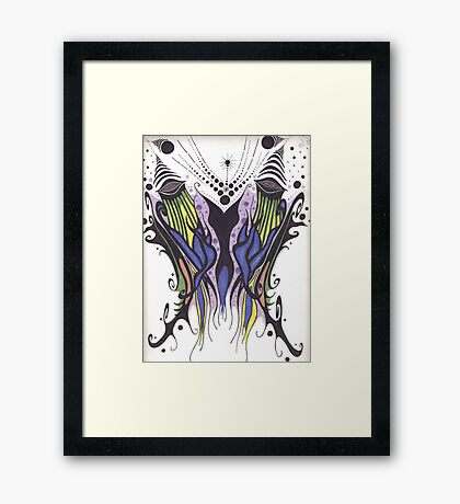 Wicked Wings Framed Print