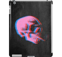 Van Gogh Skull with burning cigarette remixed 2 iPad Case/Skin