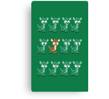 LOOK! It's Rudolph! v2(Green) Canvas Print