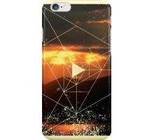 Nature and Geometry - Sunset and Mountains iPhone Case/Skin
