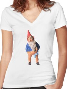 Franky the Gnome Women's Fitted V-Neck T-Shirt