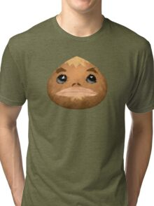 Goron Mask Paint Tri-blend T-Shirt