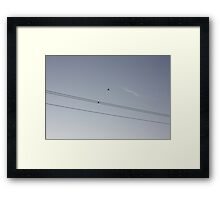 Two Birds on a Telephone Wire Framed Print
