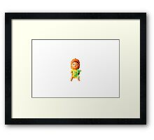 Penelope Pineapple Head Framed Print