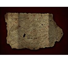 Goonies Treasure Map Photographic Print