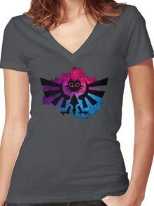 Majora's Crest 2 Women's Fitted V-Neck T-Shirt