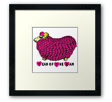 Pink Big Ram - Chinese New Year of The sheep Ram or Goat Framed Print