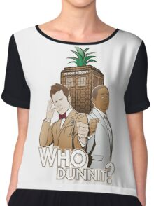 Who Dunnit? Psych Doctor Who Women's Chiffon Top