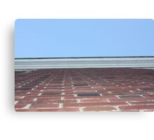 Brick Wall & Sky Canvas Print
