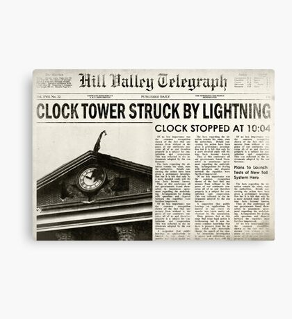 Hill Valley Telegraph Canvas Print