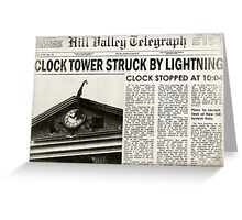 Hill Valley Telegraph Greeting Card