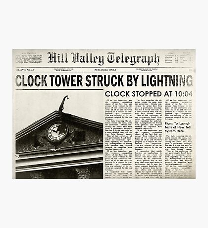 Hill Valley Telegraph Photographic Print
