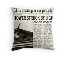 Hill Valley Telegraph Throw Pillow