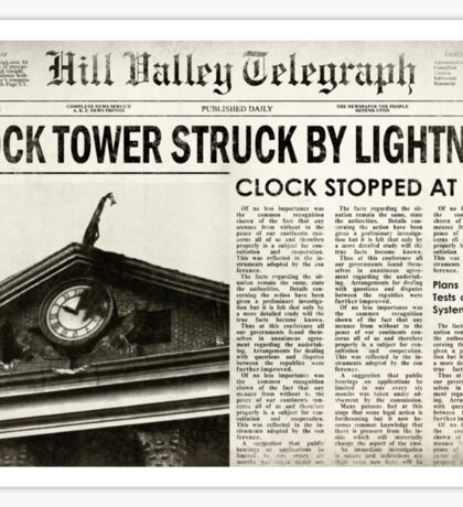 Hill Valley Telegraph Sticker