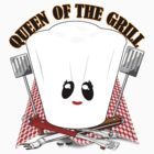 Queen of the Grill with Chef Hat and BBQ Tools  by Gravityx9