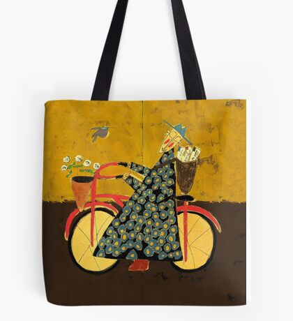 Bicycle Monk with loveletters Tote Bag