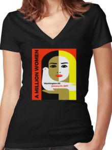 Women's March on Washington Women's Fitted V-Neck T-Shirt