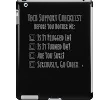 Tech Support Checklist iPad Case/Skin