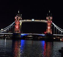 London Tower Bridge at Night by Creativity for Sanctuary for Kids