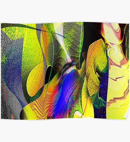 Three Layer Blender #1: Kneeling Woman abstract (UF0359)  Poster