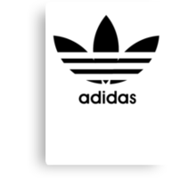 Adidas logo - black. Canvas Print