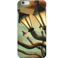 Drunk Streetlamps iPhone Case/Skin