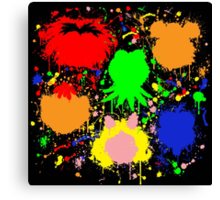 Muppet Splatter Canvas Print