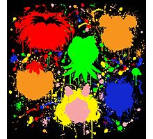 Muppet Splatter Photographic Print