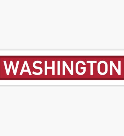 Washington R Sticker