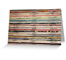 Blue Note Vinyl Photo full shot great for Poster or Cards Greeting Card