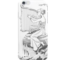 Woman Playing the Harp iPhone Case/Skin
