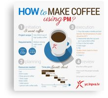 How to make coffee using project management? Square poster Canvas Print
