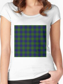 TARTAN-GREEN Women's Fitted Scoop T-Shirt