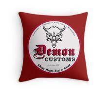 Demon Customs (White) Throw Pillow