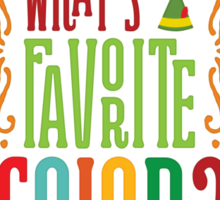Buddy the Elf - What's Your Favorite Color? Sticker
