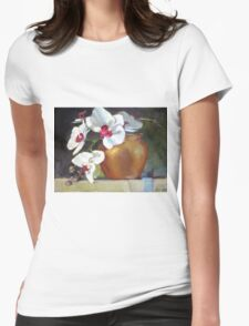 Orchid Cascade Womens Fitted T-Shirt