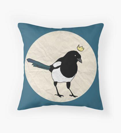 King Magpie [Tee] Throw Pillow