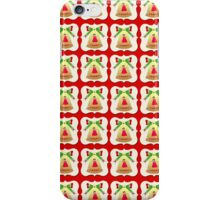 Christmas bells wallpaper red background iPhone Case/Skin