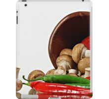 Peppers and Mushrooms iPad Case/Skin