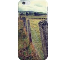 An old weathered fence iPhone Case/Skin