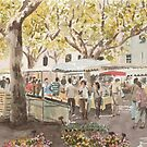Market Scene, France by ian osborne