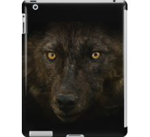 Midnights Gaze - Black Wolf Wild Animal Wildlife iPad Case/Skin