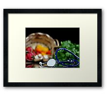 Health and wellness Framed Print