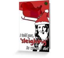 Buffy the Vampire Sleigh-er Christmas Card Greeting Card