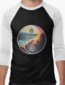 Nature Yin Yang Men's Baseball ¾ T-Shirt