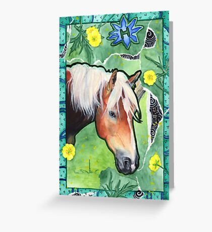 Haflinger Ali Greeting Card