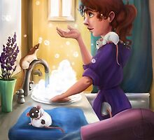 Bath Time by nicolealesart