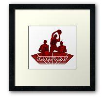 Bulls - Three-Peat Framed Print