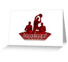 Bulls - Three-Peat Greeting Card