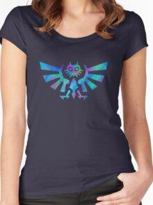 Majora's Crest Blue Women's Fitted Scoop T-Shirt